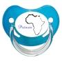 Sucette personnalisée carte Afrique et prénom