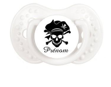 """Sucette personnalisée """"Pirate"""" et prénom"""