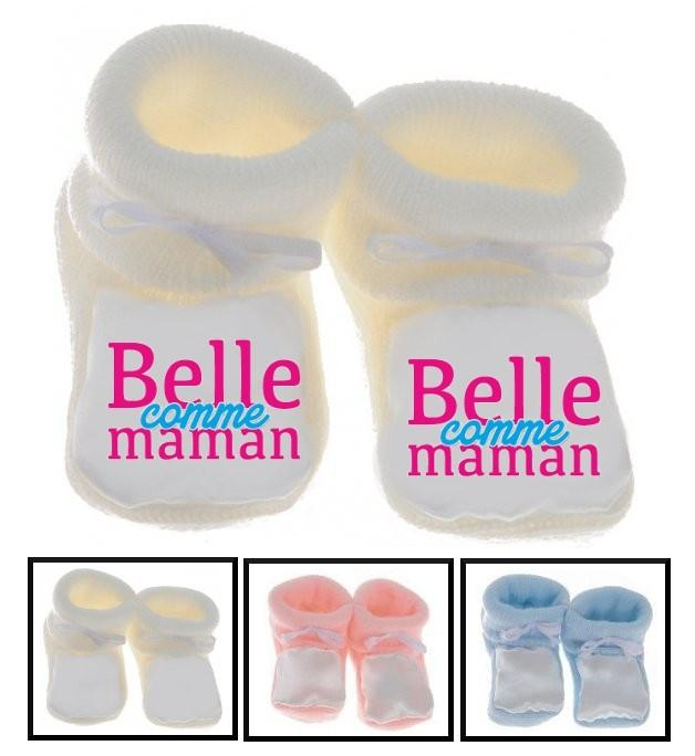 Chaussons bébé Belle comme maman