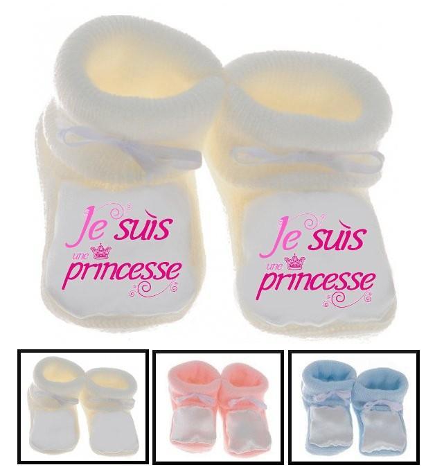Chaussons bébé Je suis une princesse