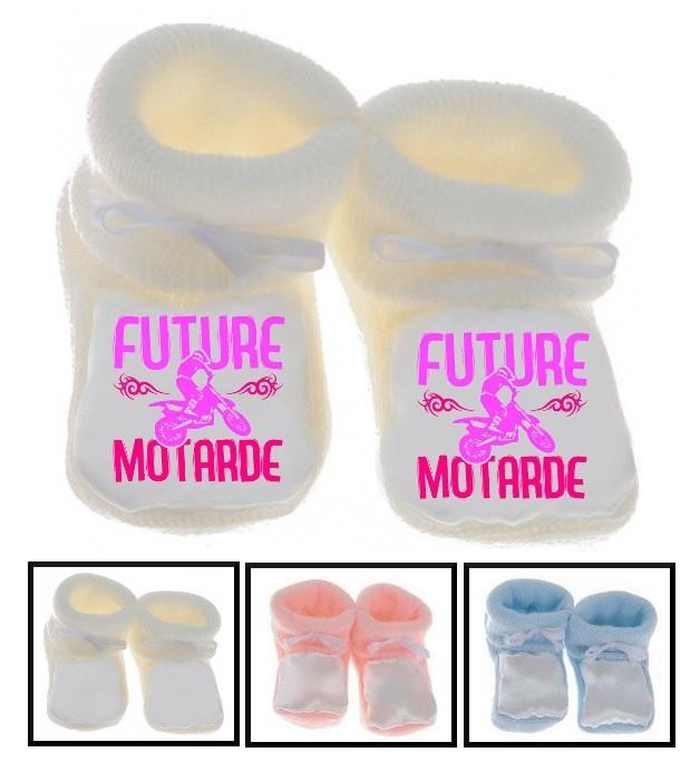 Chaussons bébé Future motarde