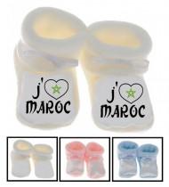 Chaussons bébé J'aime Maroc