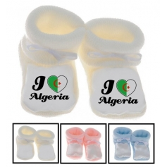 Chaussons bébé I love Algerie