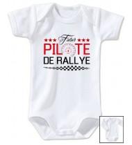 Body bébé Futur pilote de rallye