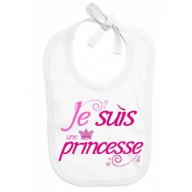 Bavoir bébé Je suis une princesse