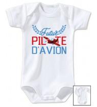 Body bébé Futur pilote d'avion