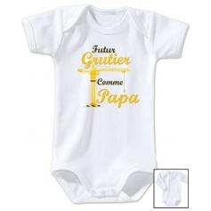 Body bébé Futur grutier comme papa
