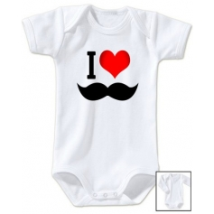 Body bébé I love moustache