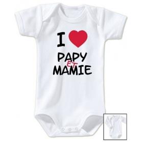 Body bébé J'aime papy et mamie