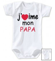 Body bébé J'aime mon papa