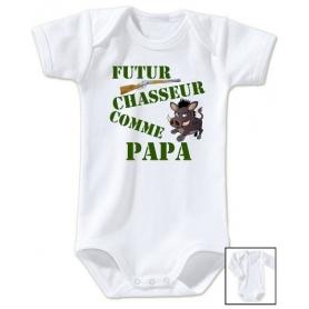Body bébé Futur chasseur comme papa