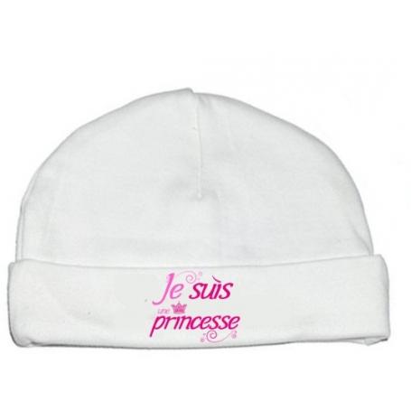Bonnet bébé Je suis une princesse