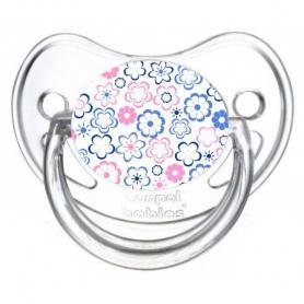 Sucette de bébé fleur bleu