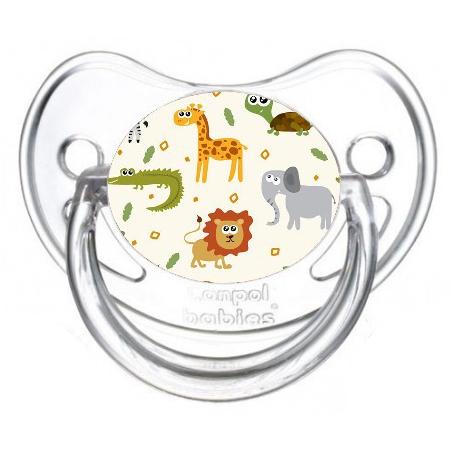 Sucette de bébé animaux de la jungle