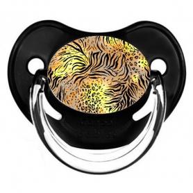 Sucette de bébé leopard