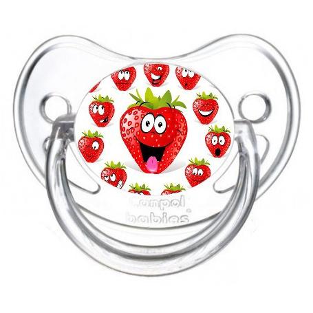 Sucette de bébé fraise
