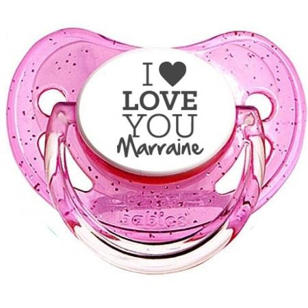 sucette I love you marraine