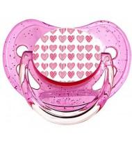 Sucette de bébé coeurs roses