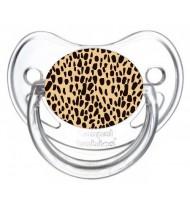 Sucette de bébé léopard orange