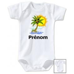 Body personnalisé palmier prénom