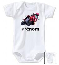 Body personnalisé moto prénom
