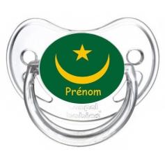 Sucette personnalisée drapeau Mauritanie et prénom