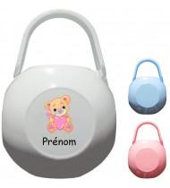 Boîte à Sucette personnalisée Ourson coeur Prénom