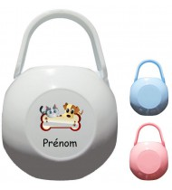 Boîte à Sucette personnalisée Chien chat Prénom