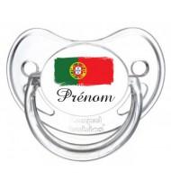 Sucette personnalisée Portugal et prénom