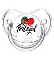 Sucette personnalisée I love Portugal coeur