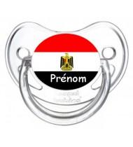 Sucette personnalisée drapeau Egypte et prénom