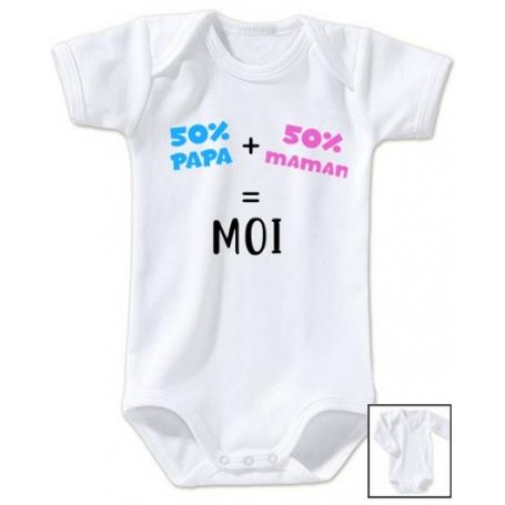 c1b9cba707953 Body bébé 50% papa 50% maman 100% moi - Ma-totosse