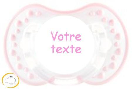 Sucette personnalisée style blanc et rose
