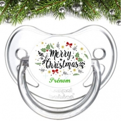 Sucette personnalisée Merry Christmas