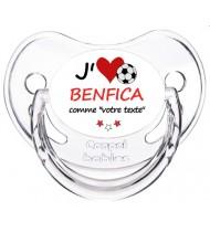 Sucette foot personnalisée J'aime Benfica