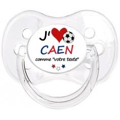 Sucette foot personnalisée J'aime Caen