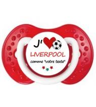 Sucette foot personnalisée J'aime Liverpool