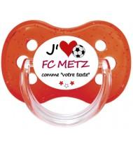 Sucette foot personnalisée J'aime FC Metz