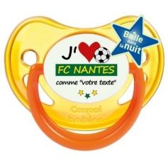 Sucette foot personnalisée J'aime FC Nantes