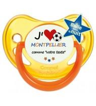 Sucette foot personnalisée J'aime Montpellier