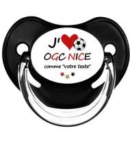 Sucette foot personnalisée J'aime OGC Nice