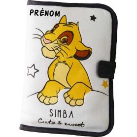 Carnet de santé personnalisable Simba le Roi Lion