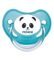 Sucette personnalisée visage panda et prénom