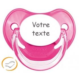 Sucette bébé personnalisée rose Penguins