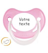Sucette bébé personnalisée rose Happy