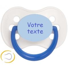 Sucette bébé personnalisée cerise Continent blanche bleue