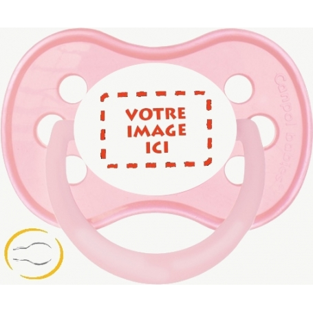 Sucette bébé création personnalisée Symetrique Pastel rose
