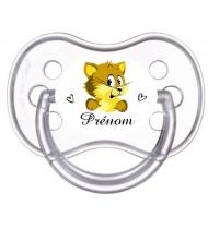Sucette personnalisée souris jaune et prénom