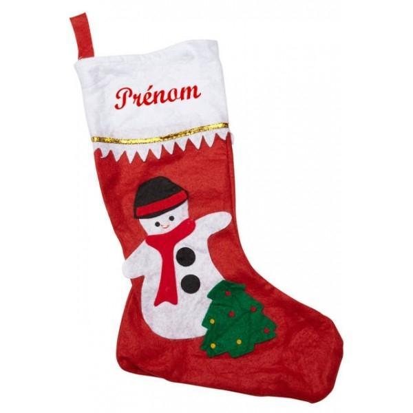 Chaussettes de Noël personnalisables Bonhomme de neige