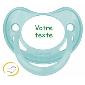 Sucette bébé personnalisée physiologique pastel verte